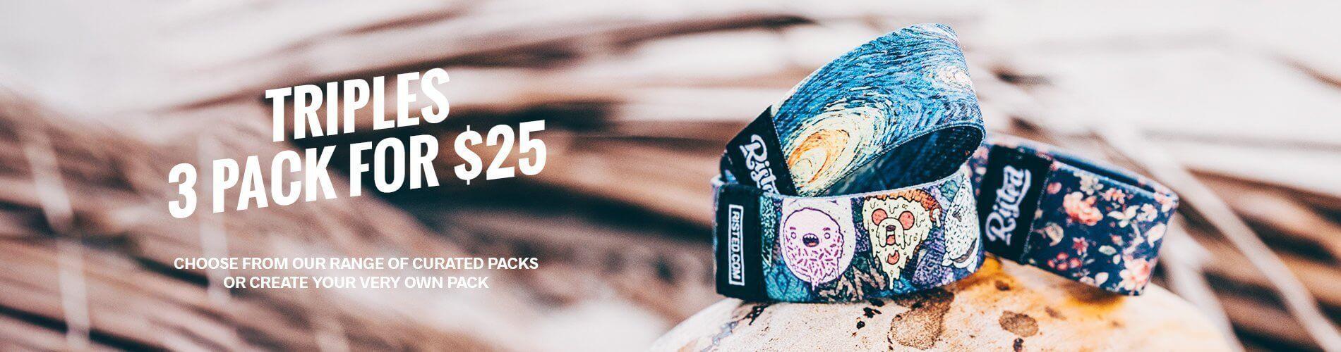 3 pack bracelets risted 1